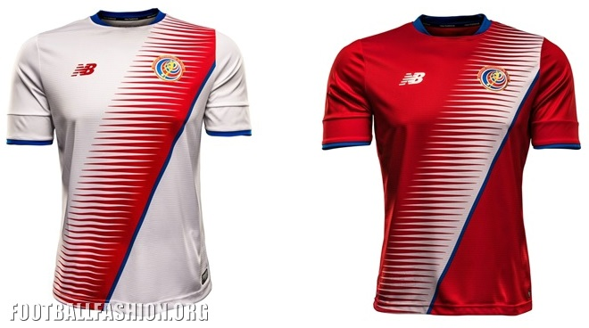 Costa Rica 2016 17 New Balance Home and Away Jerseys – FOOTBALL ... b550bdf4f
