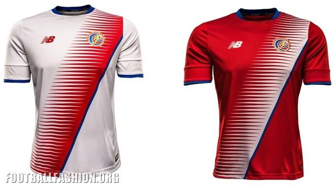 Costa Rica 2016 17 New Balance Home and Away Jerseys – FOOTBALL ... 795c13603