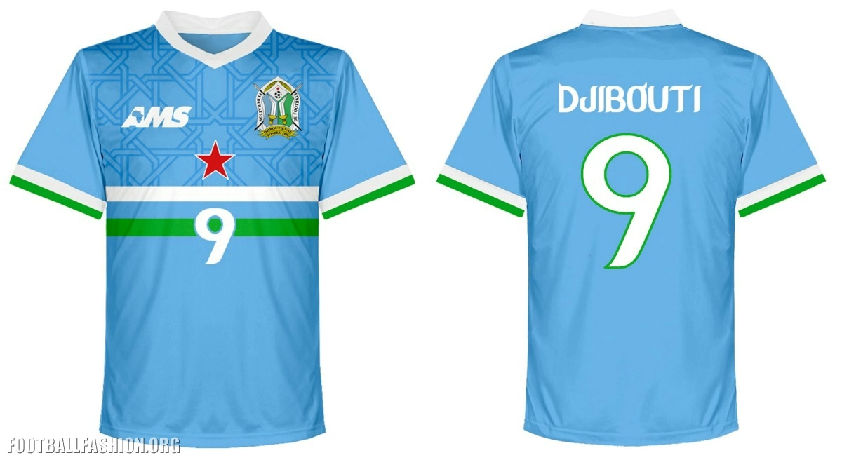 Djibouti 2016 2017 AMS Home and Away Football Kit 7e91b1d34