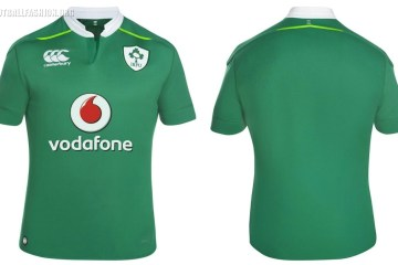 Ireland Rugby 2016 2017 Canterbury Home and Away Kit, Jersey, Shirt