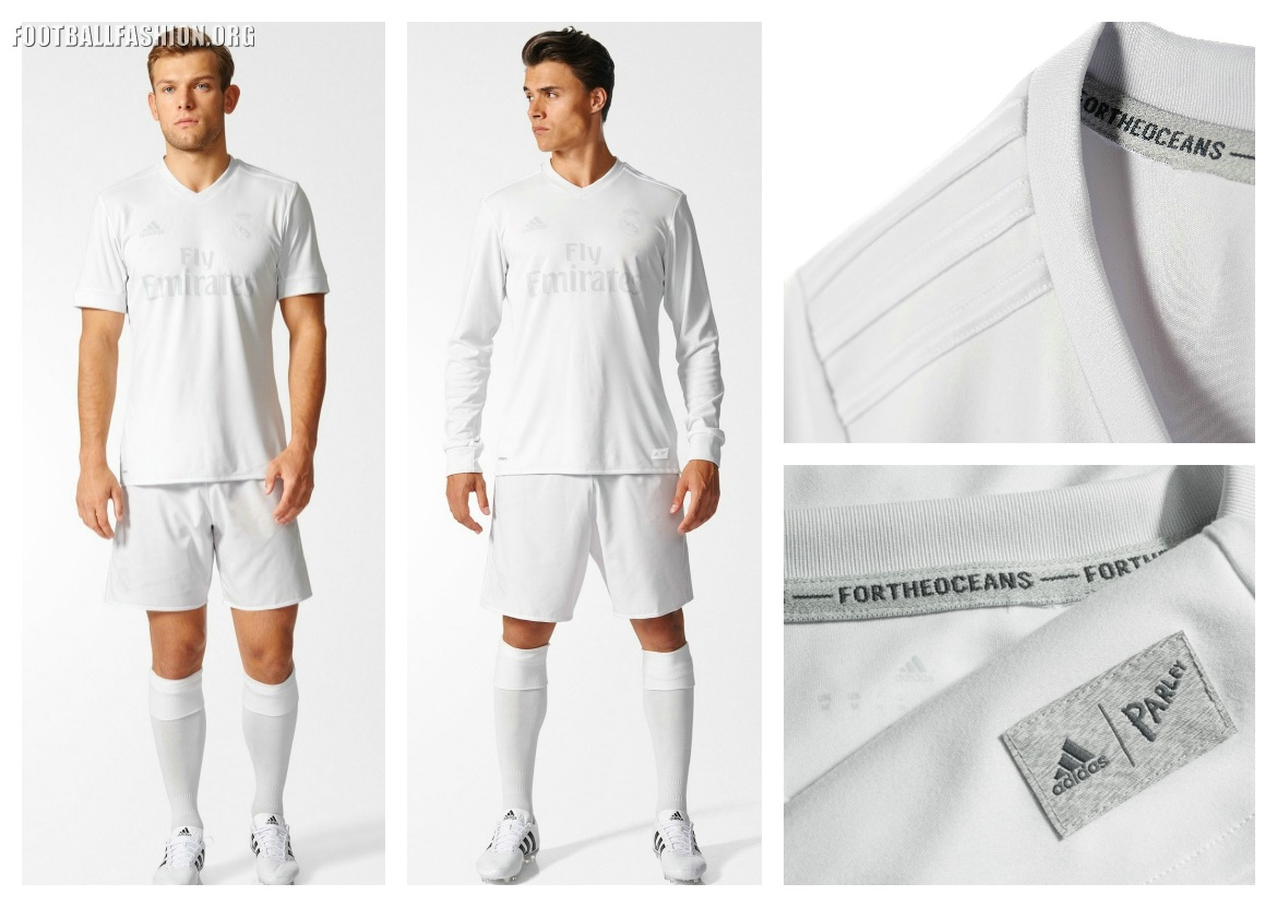 85779f83310 Real Madrid adidas x Parley 2016 17 Home Jersey - Made from Ocean ...