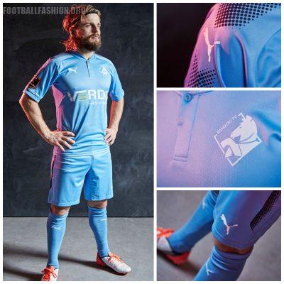 Randers FC 2017 PUMA Home Football Kit, Soccer Jersey, Shirt, Spillertrøje, Trøje