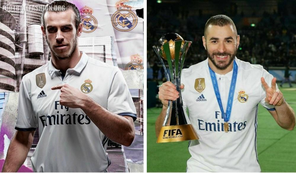 Real Madrid 2016 2017 FIFA World Club Cup Champions adidas White Home and Purple Away Football Kit, Soccer Jersey, Shirt, Camiseta de Futbol, Nueva Equipacion, Camisa, Campeones del Mundial Clubes