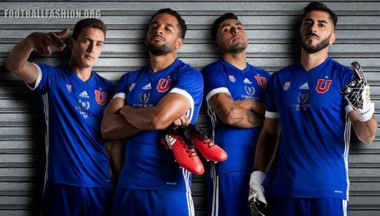 Club Universidad de Chile 2017 adidas Home Football Kit, Soccer Jersey, Shirt, Camiseta de Futbol