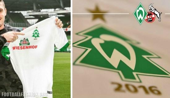 Werder Bremen 2016 Nike Christmas Soccer Jersey, Football Kit, Shirt, Trikot, Weihnachtsbaumtrikot