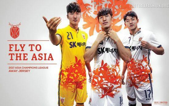 Jeju United FC 2017 AFC Champions League Football Kit, Soccer Jersey, Shirt