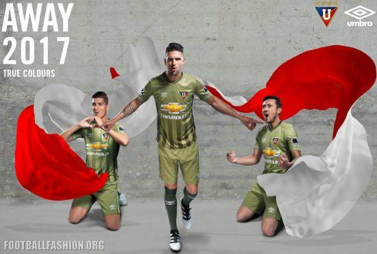 Liga de Quito 2017 Umbro Home and Away Football Kit, Soccer Jersey, Shirt