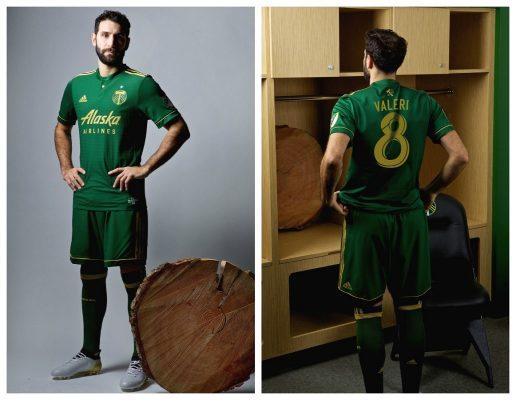 Portland Timbers 2017 adidas Home Soccer Jersey, Shirt, Football Kit, Camiseta de Futbol