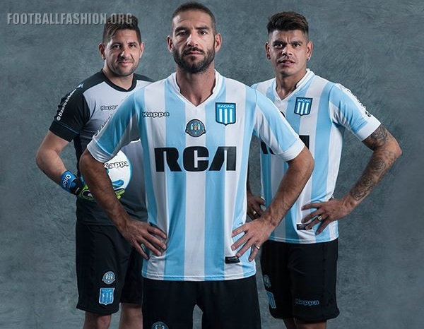Racing Club 2017 Limited Edition Kappa Home and Away Kits – FOOTBALL ... a9b8c5f643ac6