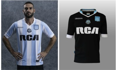 Racing Club 2017 Kappa Home and Away Football Kit, Soccer Jersey, Shirt, Camiseta de Futbol, Equipacion