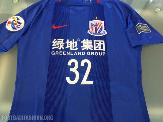 Shanghai Greenland Shenhua 2017 Nike Home Soccer Jersey, Football Shirt, Kit, Camiseta de Futbol