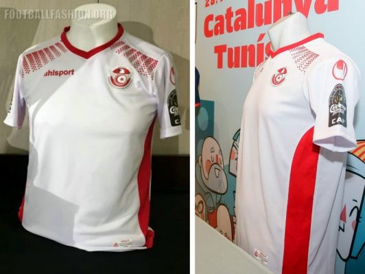 Tunisia 2017 Africa Cup of Nations uhlsport Football Kit, Soccer Jersey, Shirt, Maillot Tunisie CAN AFCON