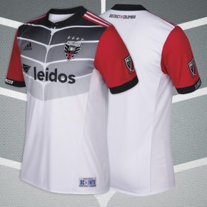 D.C. United 2017 adidas Away Soccer Jersey, Football Shirt, Kit, Camiseta de Futbol, Equipacion, Playera
