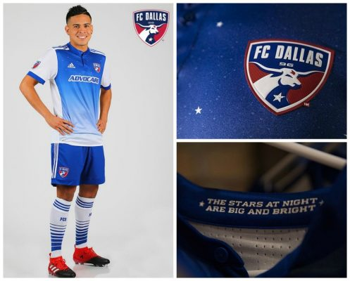 FC Dallas 2017 adidas Away Soccer Jersey, Football Kit, Shirt, Camiseta de Futbol, Playera, Equipacion
