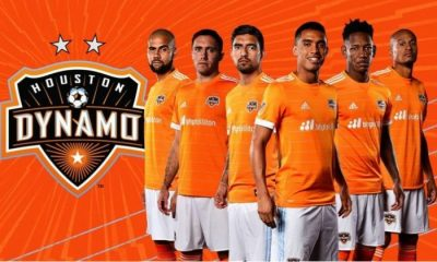 Houston Dynamo 2017 adidas Home Soccer Jersey, Shirt, Football Kit, Camiseta de Futbol, Equipacion