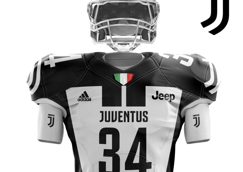 Juventus FC Unveil Super Bowl LI adidas Concept Uniform, Football Kit, Jersey, Shirt, Maglia, Gara