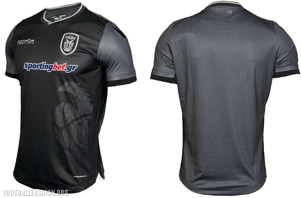 PAOK FC 2017 Limited Edition Macron Black Kit – FOOTBALL FASHION.ORG 689268262a2