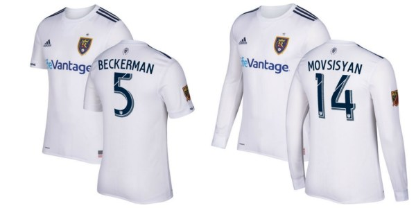 Real Salt Lake 2017 adidas Away Soccer Jersey, Football Shirt, Kit, Camiseta de Futbol, Playera, Equipacion
