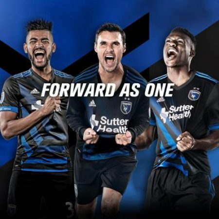 San Jose Earthquakes 2017 adidas Home Soccer Jersey, Shirt, Football Kit, Camiseta de Futbol, Playera, Equipacion