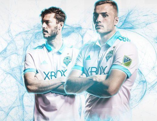 Seattle Sounders 2017 adidas Away Soccer Jersey, Football Kit, Shirt, Camiseta de Futbol