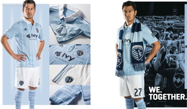 Sporting KC 2017 adidas Home Soccer Jersey, Football Shirt, Kit, Camiseta de Futbol