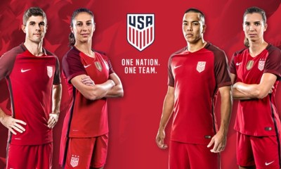 USA 2017 Nike Red Soccer Jersey, Football, Kit, Shirt, Camiseta de Futbol, Playera Roja, Equipacion