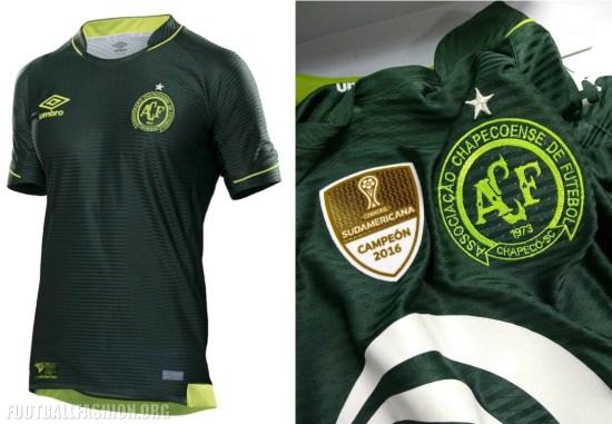 Chapecoense 2017 Copa Libertadores Umbro Football Kit, Soccer Jersey, Shirt, Camisa, Camiseta, Maillot, Trikot, Equipacion