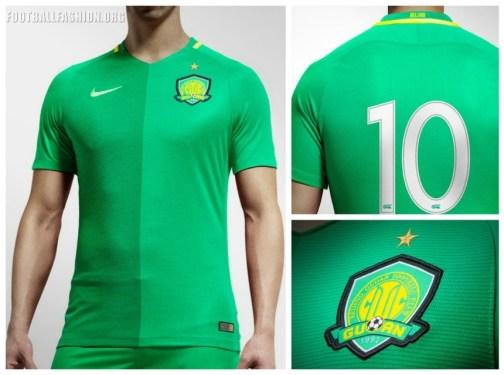Beijing Guoan FC 2017 Nike Home Soccer Jersey, Shirt, Football Kit