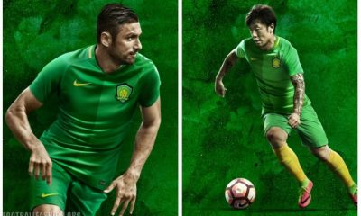 Beijing Guoan FC 2017 Nike Home Soccer Jersey, Shirt, Football Kit