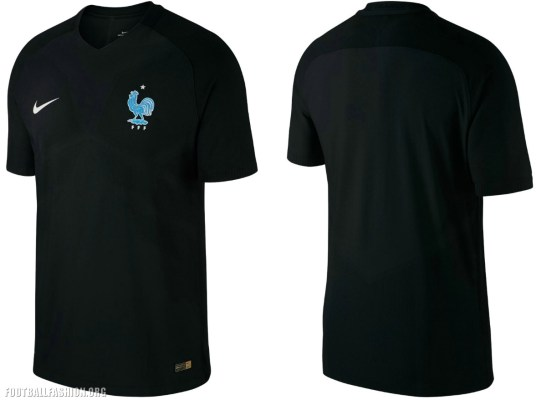 France 2017 2018 Nike Black Third Football Kit, Soccer Jersey, Shirt, Maillot, Tenue, Noir