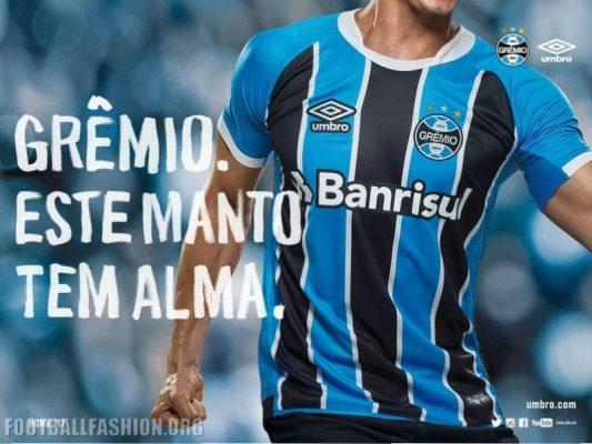 Grêmio 2017 Umbro Home and Away Football Kit, Soccer Jersey, Shirt, Camisa