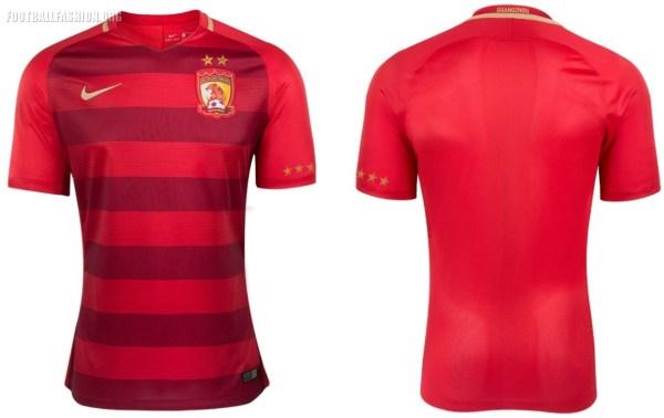 Guangzhou Evergrande 2017 Nike Home Football Kit, Soccer Jersey, Shirt