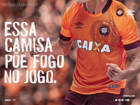 Atlético Paranaense 2017 Umbro Away Football Kit, Soccer Jersey, Shirt, Camisa II