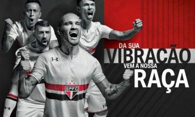 São Paulo FC 2017 Under Armour Home Soccer Jersey, Football Kit, Shirt, Camiseta de Futbol, Camisa I do Futebol