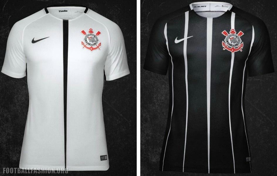 93501d16f Corinthians Paulista 2017 18 Nike Home and Away Kits - FOOTBALL ...
