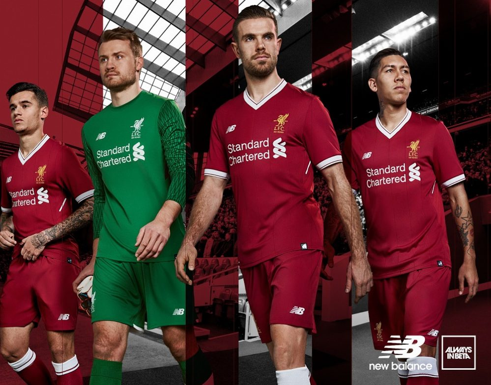 the latest f2a76 f2fea Liverpool FC 125th Anniversary 2017/18 New Balance Home Kit ...