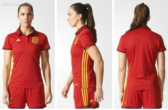 Spain Women's EURO 2017 adidas Home and Away Football Kit, Soccer Jersey, Shirt, España Camiseta de Futbol