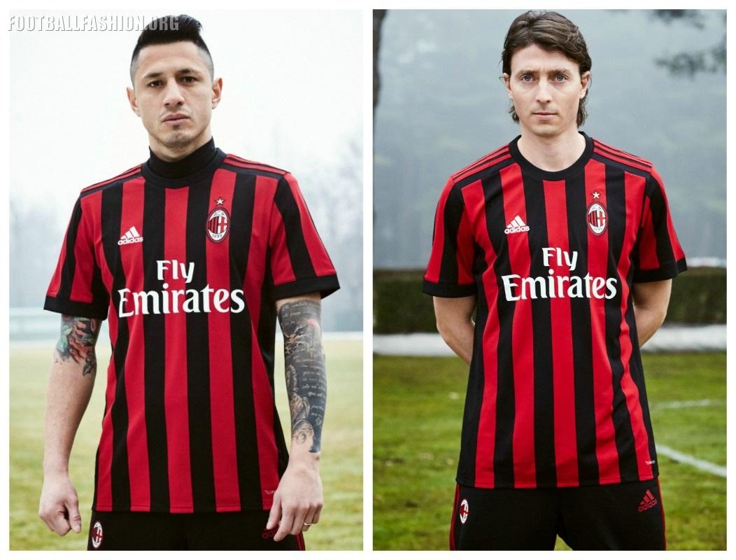 adidas Soccer Reveals AC Milan 2017/18 Home Kit - FOOTBALL FASHION