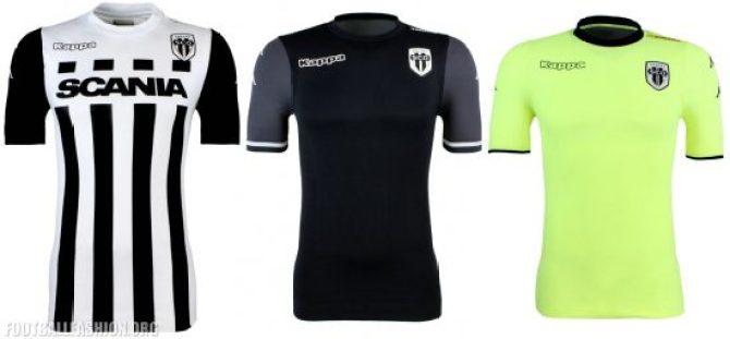 Angers SCO 2017 2018 Kappa Home, Away and Third Football Kit, Soccer Jersey, Shirt, Maillot