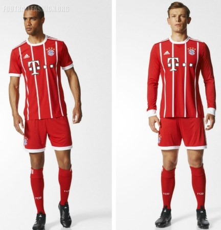 Bayern Munich 2017 2018 adidas Home Football Kit, Soccer Jersey, Shirt, Trikot, Maillot, Tenue, Camisa, Camiseta, München