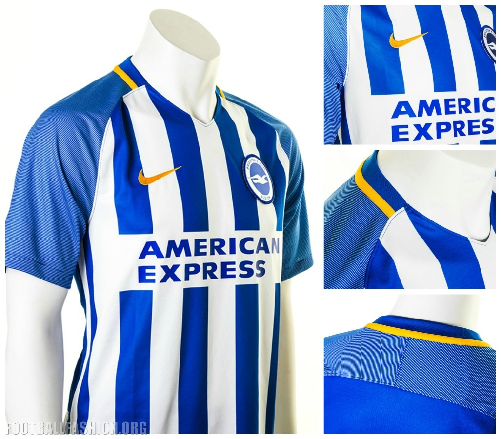 17d47ebbd77 Brighton and Hove Albion 2017 2018 Nike Home Premier League Football Kit
