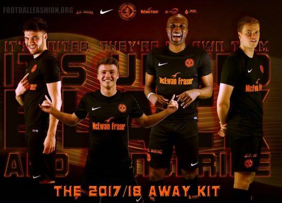 Dundee United 2017 2018 Nike Away Football Kit, Soccer Jersey, Shirt