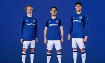 Everton FC 2017 2018 Umbro Home Football Kit, Soccer Jersey, Shirt, Camisa, Camiseta, Maillot. Trikot