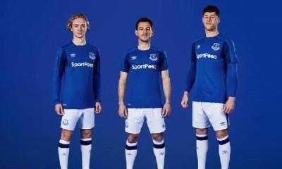 Everton FC 2017 2018 Umbro Home Football Kit, Soccer Jersey, Shirt, Camisa, Camiseta, Maillot. Trikot