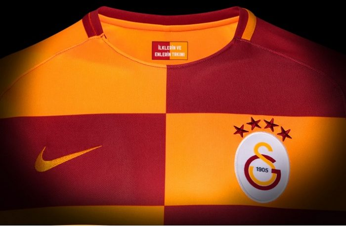 Galatasaray SK 2017 2018 Nike Home Football Kit, Soccer Jersey, Shirt, Forma