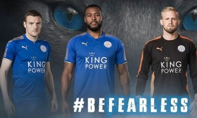 Leicester City FC 2017 2018 PUMA Home Football Kit, Soccer Jersey, Shirt