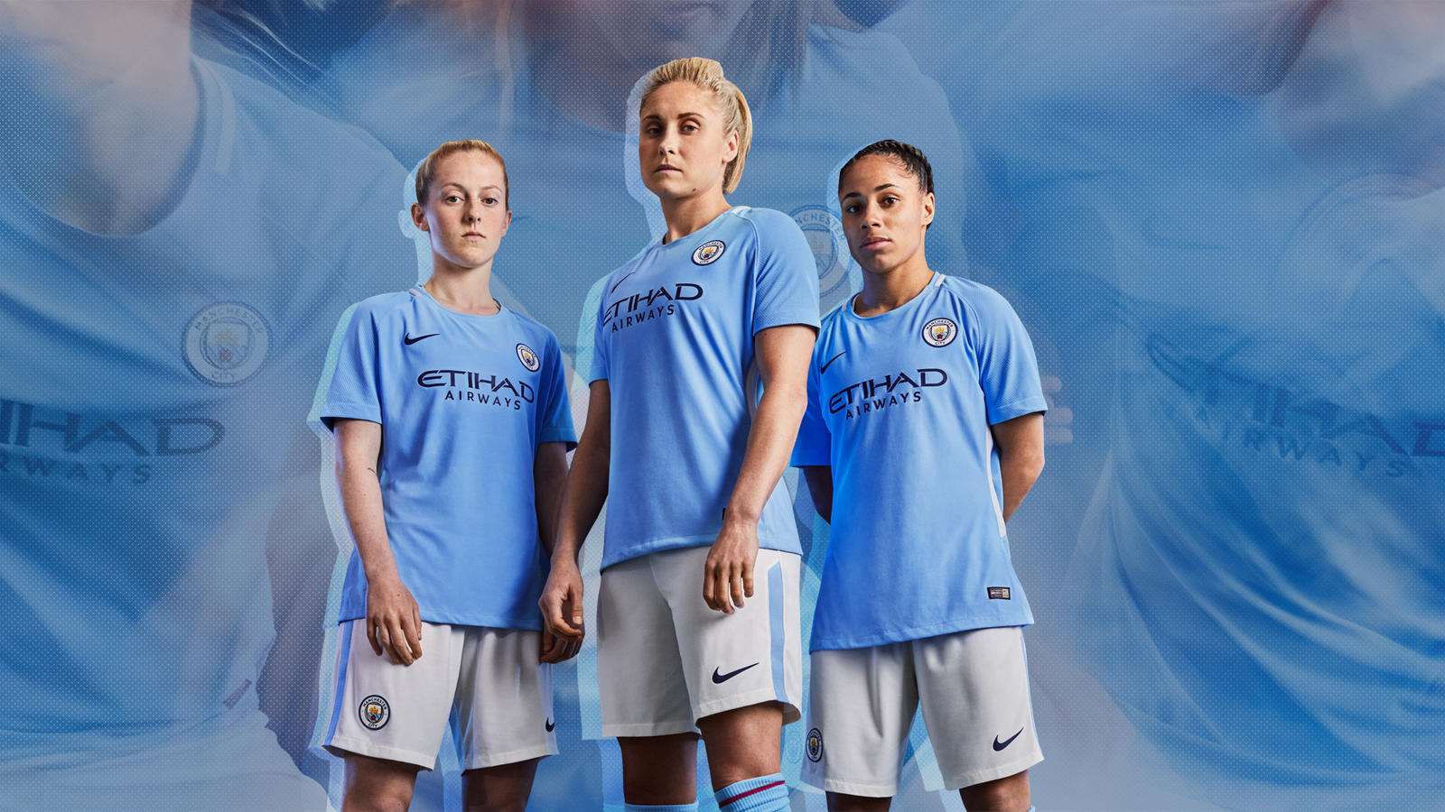 new style b0a51 4754e Manchester City FC 2017/18 Nike Home Kit - FOOTBALL FASHION.ORG