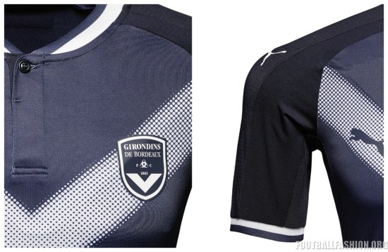 Girondins de Bordeaux 2017/18 PUMA Home Football Kit, Shirt. Soccer Jersey, Maillot