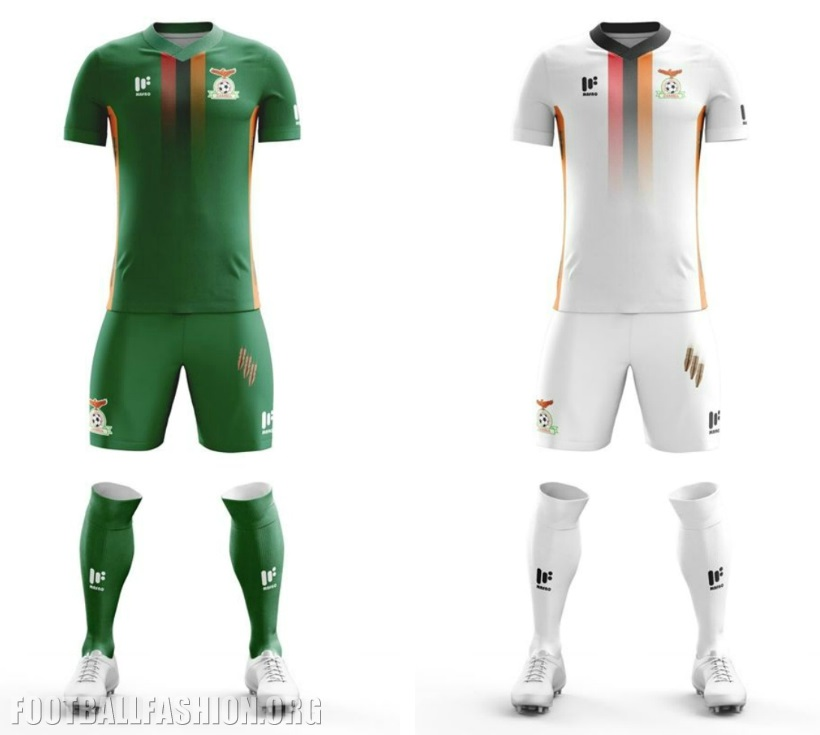 ae1fe5bef7a The former 2012 Africa Cup of Nations champions new home kit is in their  traditional primary green while their away shirt is mainly orange.