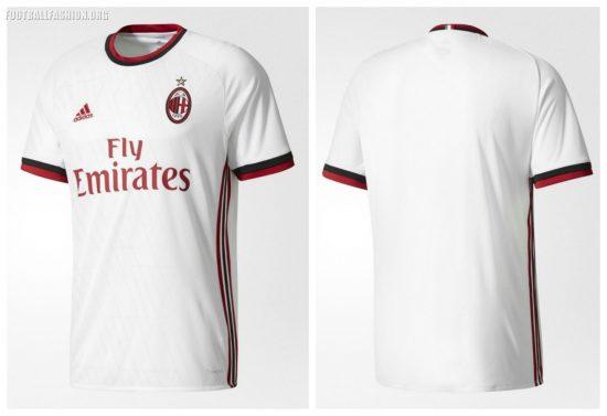 AC Milan 2017 2018 adidas White Home Soccer Jersey, Shirt, Football Kit, Gara, Maglia, Camisa, Camiseta, Maillot, Trikot